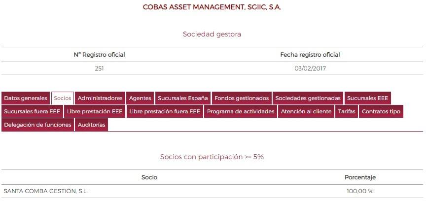 Cobas  Asset Management. NO LO ENCONTRARÁS EN MORNINGSTAR. LOS PROPIETARIOS (1)